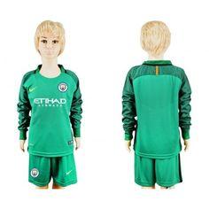 #Manchester City Trøje Børn 16-17 målmand Hjemmebanetrøje Lange ærmer.222,01KR.shirtshopservice@gmail.com