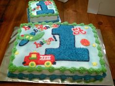 Baby Boys First Birthday Cake Baby Boy Birthday Cake, Birthday Sheet Cakes, 1st Birthday Cakes, Birthday Ideas, Bithday Cake, Birthday Boys, Birthday Parties, Cake Baby, Birthday Pictures
