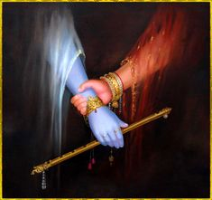 Radha Hold Out To Krishna Painting Wallpaper Señor Krishna, Krishna Flute, Krishna Leela, Radha Krishna Quotes, Jai Shree Krishna, Lord Krishna Images, Radha Krishna Pictures, Hare Krishna, Radha Radha