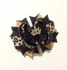 Leopard Princess Boutique Bow  Hair by KayKreationsBoutique, $7.50