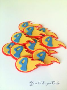 Fondant edible cupcake cookie topper Blaze and the monster machicnes Boy first birthday Car Hot wheels Party decorations Baby shower Flame by YanchaSugarCake on Etsy