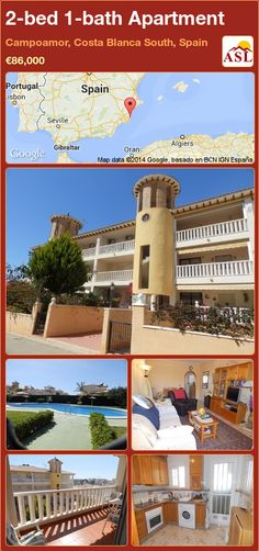 2-bed 1-bath Apartment in Campoamor, Costa Blanca South, Spain ►€86,000 #PropertyForSaleInSpain