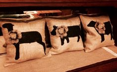 Livestock Pillow by BlondeSalvage on Etsy