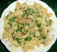 W Mojej Kuchni Lubię..: żytnie kokardki w sosie carbonara na szybki obiad ...