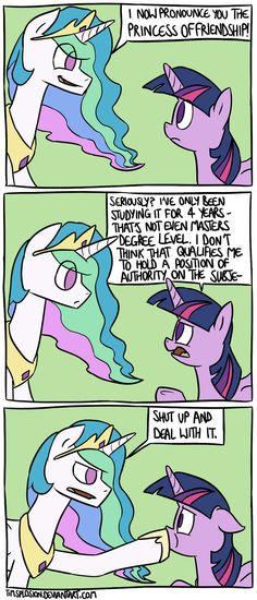 Princess of Friendship by timsplosion.deviantart.com on @deviantART - OMG yes this is how it went down