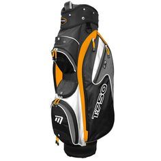 """T:750 Trolley Bag in Black, White and Orange - Includes storage pockets, cool pocket, 7.5"""" divider top and accessory clip"""