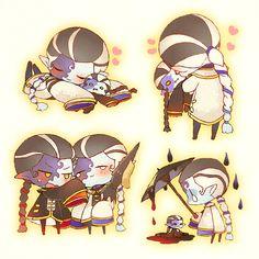 V Chibi, Cute Chibi, V Cute, Identity Art, Boy Art, Video Game Art, Cute Characters, Geisha, Doujinshi