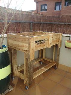 Lowcost por el DIY: Mesa de huerto urbano con palets