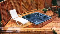 backyard spa pool deck - Google Search