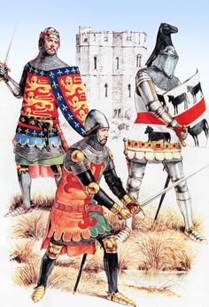 English dismounted knights, Hundred Years War