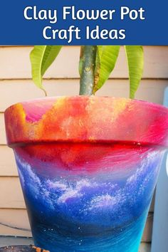 Clay Pots Decorations Ideas – Small clay pot craft ideas for decorating clay flower pots for gifts and handmade decorations – Since I have ALL these old flower pots laying … Clay Flower Pots, Flower Pot Crafts, Clay Pot Crafts, Diy Home Crafts, Easy Diy Crafts, Cute Crafts, Easy Toddler Crafts, Crafts For Kids To Make, Kids Crafts