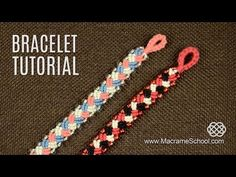Knotted Plait Bracelet Tutorial | Macrame School - YouTube