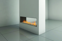 double sided fireplace from ortal heating solutions in la