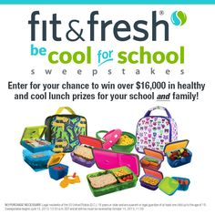 Please help our school win over $16,000 in prizes from Fit & Fresh!  Find out more at Scholastic.com/fit-fresh