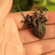 Feel the nature Heart Tree, Tree Heart Tattoo, Tree Branch Tattoo, Tree Ring Tattoo, Heart Jewelry, Jewelry Box, Jewelery, Jewelry Necklaces, Silver Jewelry