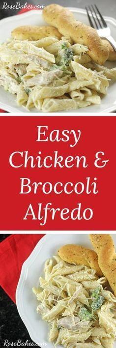 Easy Chicken & Broccoli Alfredo | RoseBakes.com #ad #VivaBertolli Snag a coupon here: https://ooh.li/0e42991