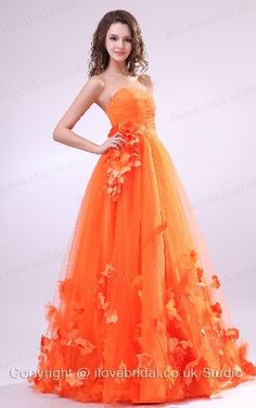orange wedding dresses   Orange Bridesmaid Dresses for Your ...
