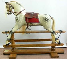 Ayres rocking horse restored by Classic Rocking Horses