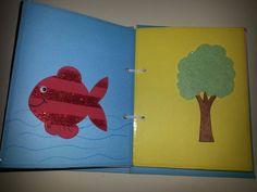 sensory book duyusal kitap simli evadan balık keçeden ağaç