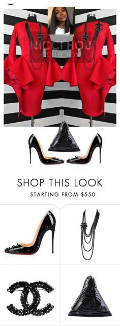 """Pentacost Sunday"" by cogic-fashion ❤ liked on Polyvore featuring Christian Louboutin and Chanel"