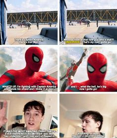 This was in the movie. This was literally in the Spider-Man movie can we appreciate that for a minute