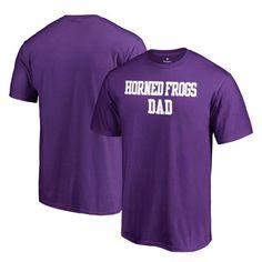TCU Horned Frogs Fanatics Branded Team Dad Crewneck T-Shirt - Purple