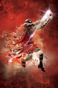 Michael Jordan 3D art
