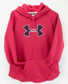 Unde Armour Womens Hoodie Sweatshirt Storm Red Size XL 16 #UnderArmour #Hoodie