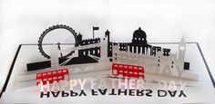 3D SVG Pop up Card London theme Fathers day by MySVGHUT on Etsy
