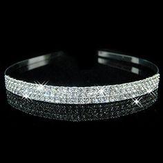 Hot fashion female girl rhinestone crystal Headband bandage on his head Bride Wedding Tiara crown hair hoop accessories YW007