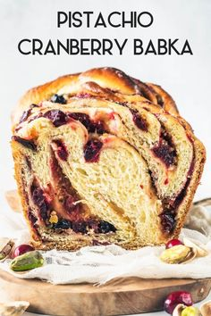 I am all about Holiday and Celebration Desserts. Which explains today's post my wonderful Pistachio Cranberry Babka. Best Bread Recipe, Quick Bread Recipes, Sweet Recipes, Baking Recipes, Dessert Recipes, Beurre Vegan, Pain Artisanal, Babka Recipe, Fancy Desserts