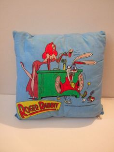 Roger and Jessica Rabbit pillow