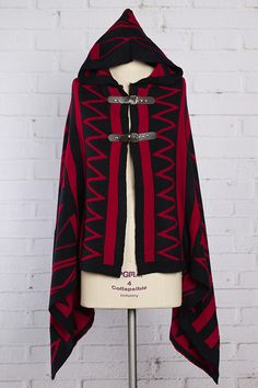 <3 Red Riding Hood HOODED PONCHO 55% COTTON, 45% ACRYLIC $46 - $50