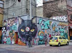 Où trouver des graffitis et du street-art en #Colombie ? A la Candelaria à #Bogota !