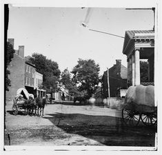 [Warrenton, Va. Street in front of courthouse]. Civil war era. Amazing how much is recognizable!