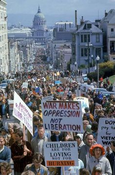 An anti-war protest in San Francisco, CA, 1967.