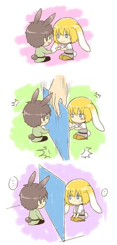 Bunny Eren and bunny Armin // AoT