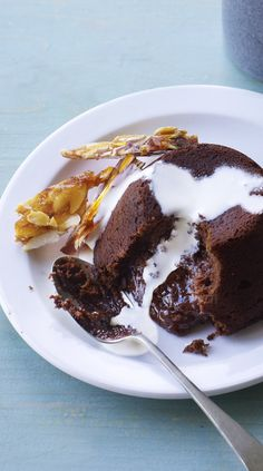 Add another layer of texture to a gooey chocolate fondant - crisp shards of almond brittle.