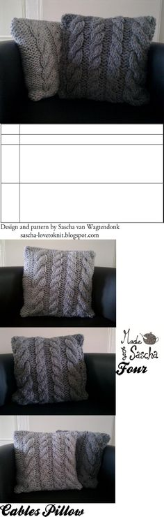 cable knit pillow covers