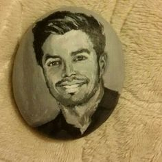 Great portrait painted on stone!!