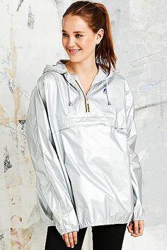 K-Way rain jacket silver