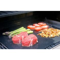 Steady 5pc Easy Reusable Non-stick Heat Resistant Bbq Cooking Grill Sheet Mat Set Kit Glass Fiber Stable Performance Can Be Repeatedly Remolded. Home & Garden Bbq