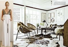 """According to Formex Spring 2013 interior design is strongly influenced by nature. Shades of white, brown natural tones, wooden surfaces, rattan and other simple, natural materials set the foundation for the new trend theme named """"Fresh"""". ...December 2012 issue of vogue living."""