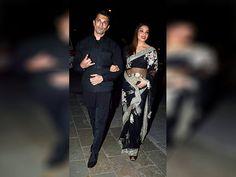 Bipasha Basu and Karan Singh Grover arrive to attend Amitabh Bachchan's Diwali party