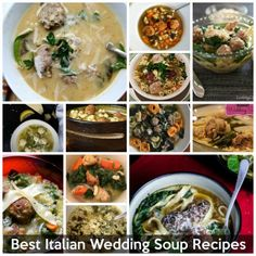 Best Italian wedding soup recipes on the net - vote for your favorite! Italian Soup Recipes, Italian Wedding Soup Recipe, Wine Recipes, Italian Crespelle Recipe, Italian Street Food, Italian Meats, It Goes On, Lunches And Dinners, Italian Weddings