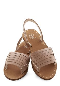 Corner Bookstore Sandal. Nothing can compare to the magic of travel - except a simple trip to the bookstore, of course! #tan #modcloth