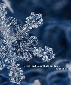 Psalm 46:10 Real Snowflake Print Real by TheCuttingEdgeShop