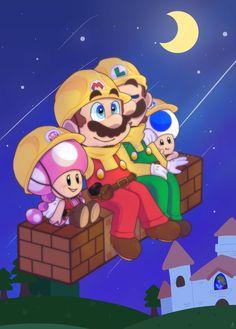 Trop trop trop bien avec Mario Luigi Toad et Toadette trop mignon Super Mario Art, Super Mario World, Pokemon, Yoshi Drawing, 2000s Cartoons, Kirby Memes, Saga, Super Mario Brothers, Video Game Art