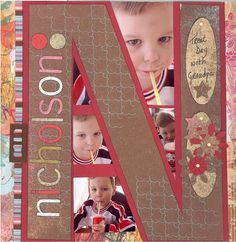 "Last Name Initial ""Treat Day"" Scrapping Page...cute & personalized. By Justme022746 - Scrapbook.com."