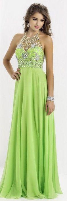 Vestidos de formatura - tons de verde